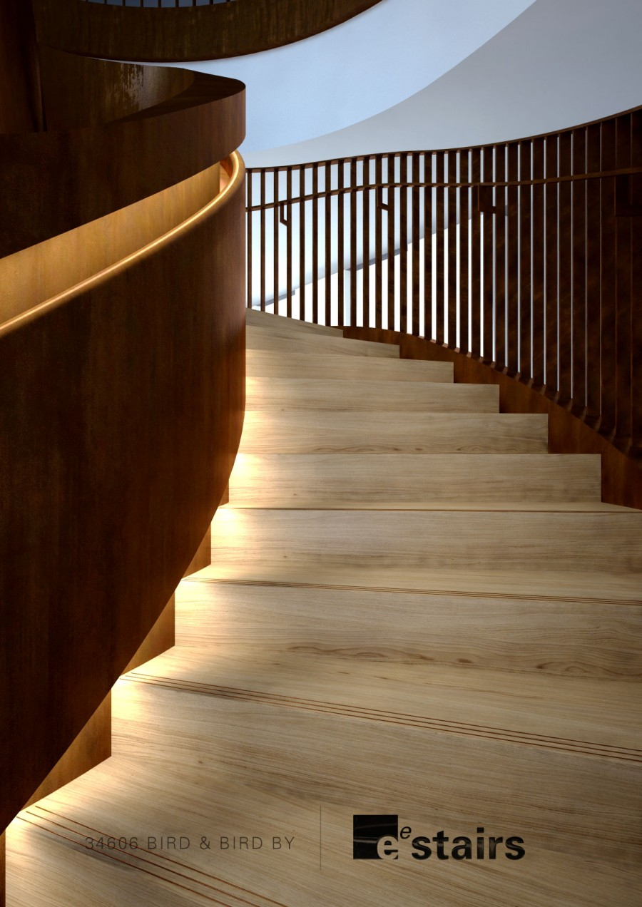 Large Bronze Helical Staircase Eedesign